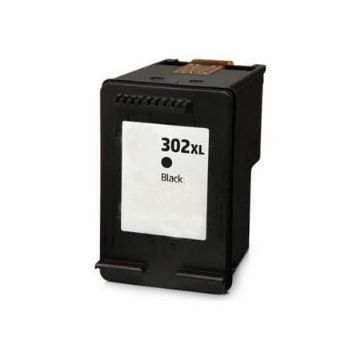 HP 302XL New Refurbished High Capacity Black Ink Cartridge - (F6U68AE)